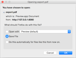 File Save Dialog for PDF File