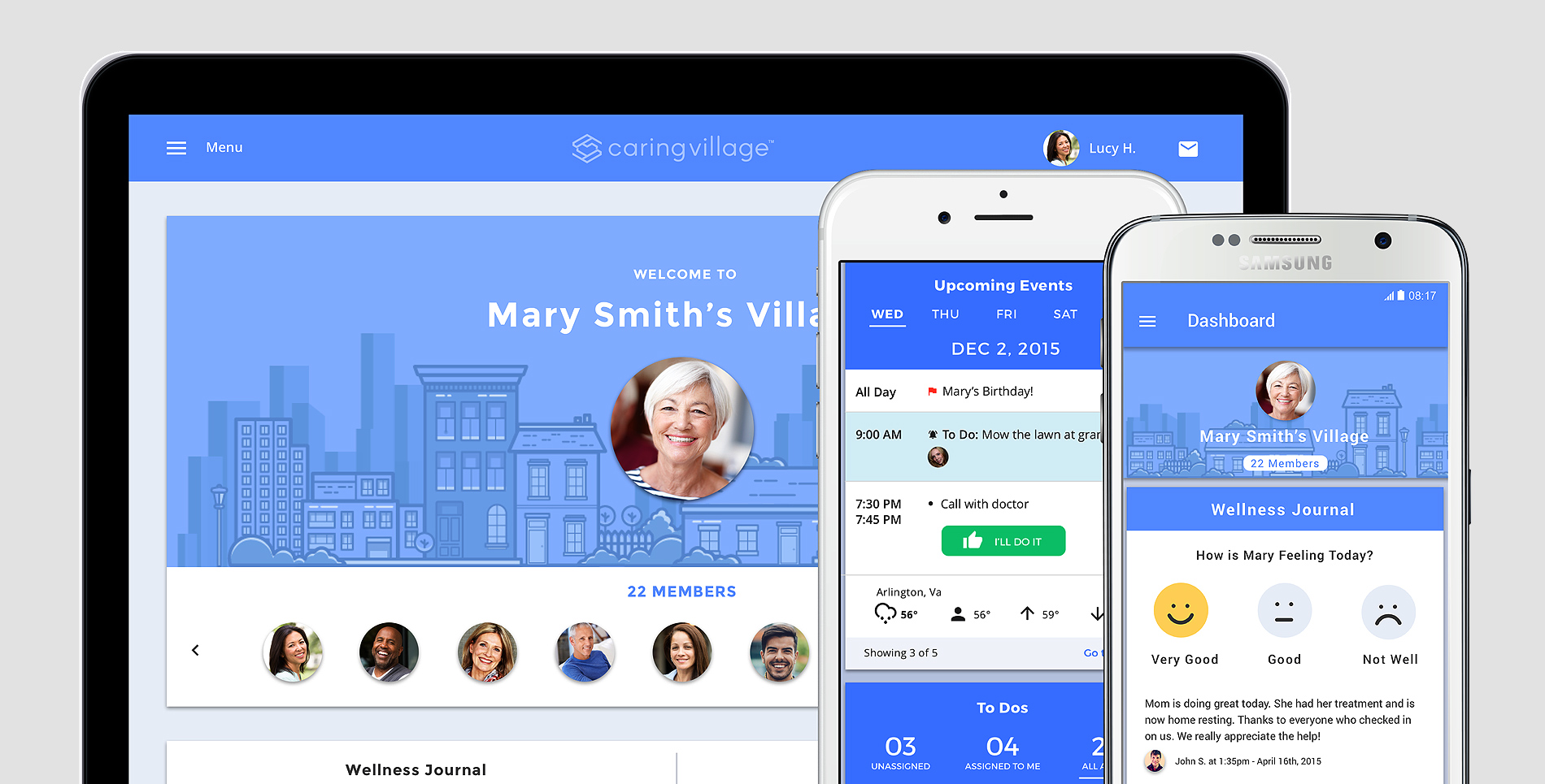 Caring Village Website Case Study