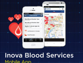Segue Develops Mobile App for Inova Blood Donor Services