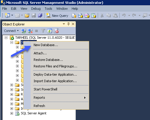 How to create and Back up a SQL Server database Part 1 Image 1
