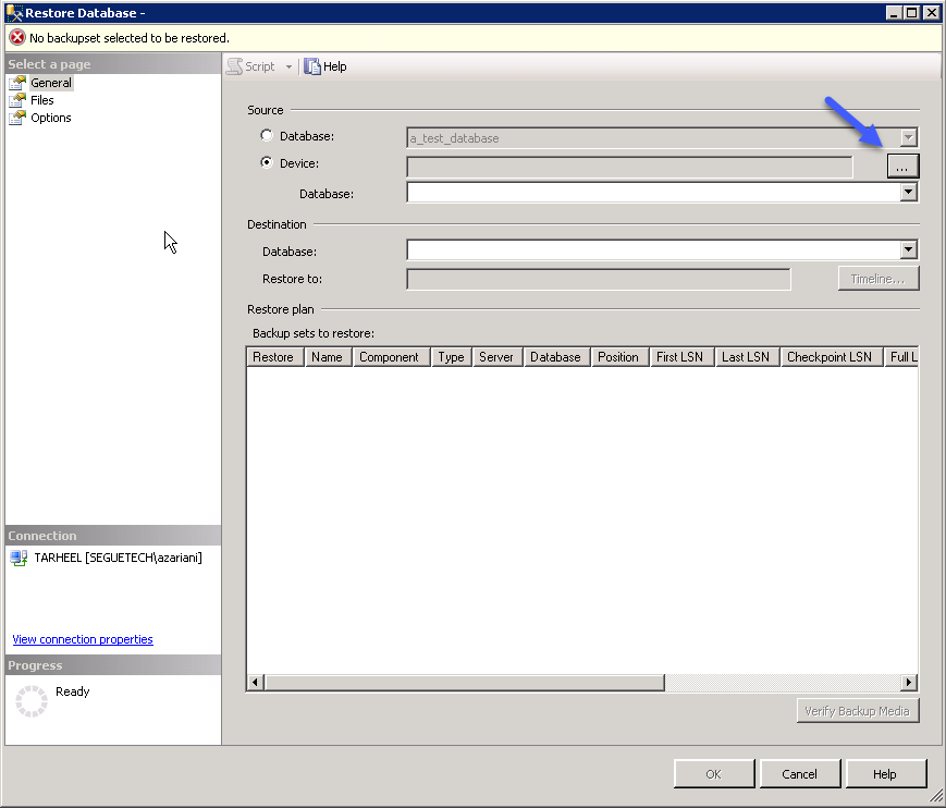 How to create and Back up a SQL Server database Part 2 Image 13