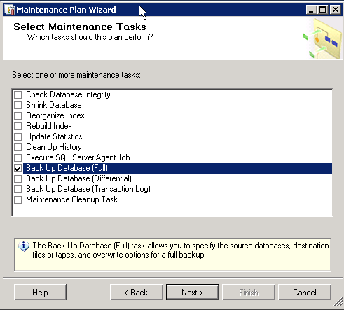 How to create and Back up a SQL Server database Part 2 image 3