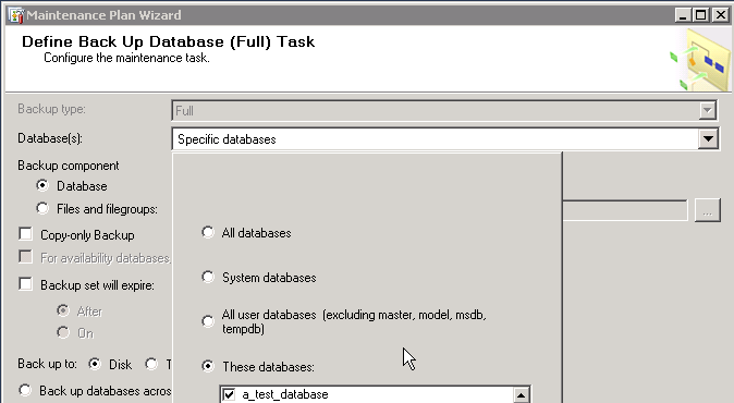 How to create and Back up a SQL Server database Part 2 image 4