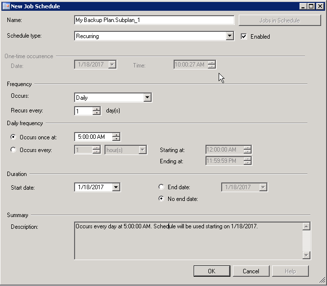 How to create and Back up a SQL Server database Part 2 Image 9