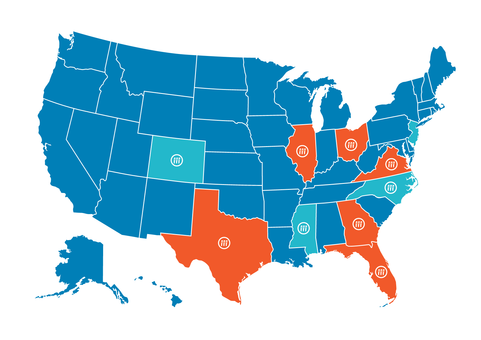 Map of Segue Projects- Dec 2017